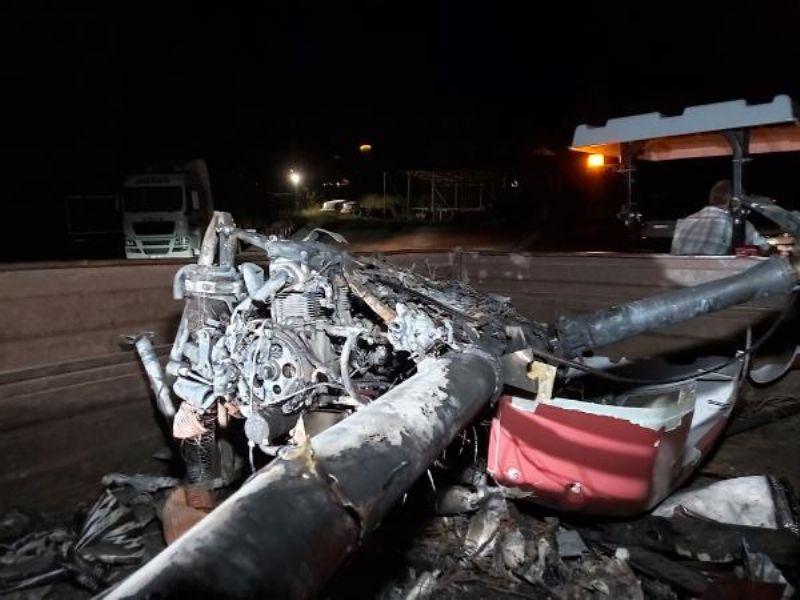 Çanakkale'de Gözetleme Uçuşu Yapan İnsansız Helikopter Düştü