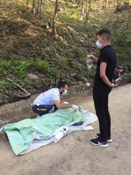 Kazdağları'nda Freni Boşalan Hafif Ticari Araç Şarampole Yuvarlandı: 1 Ölü, 3 Yaralı