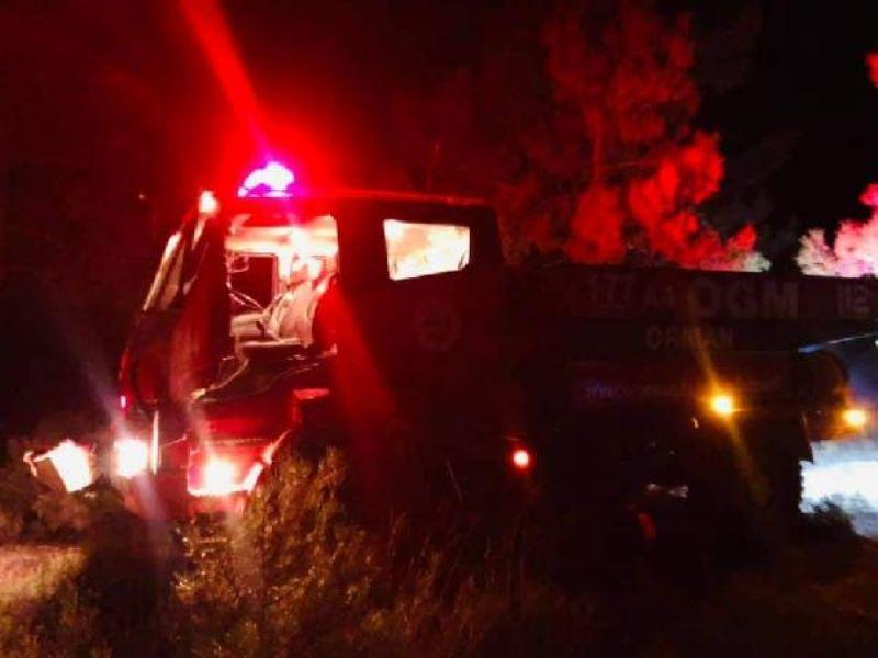 Ezine'de 10 Dönüm Ormanlık Alan Yangından Zarar Gördü