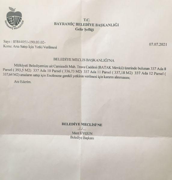 Bayramiç Belediyesi 4 Arsa Daha Satıyor