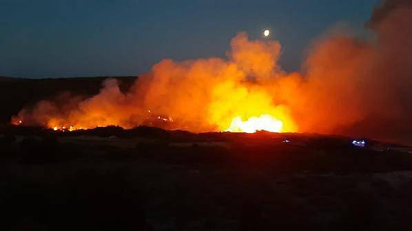 Bozcaada'da Makilik Alanda Yangın