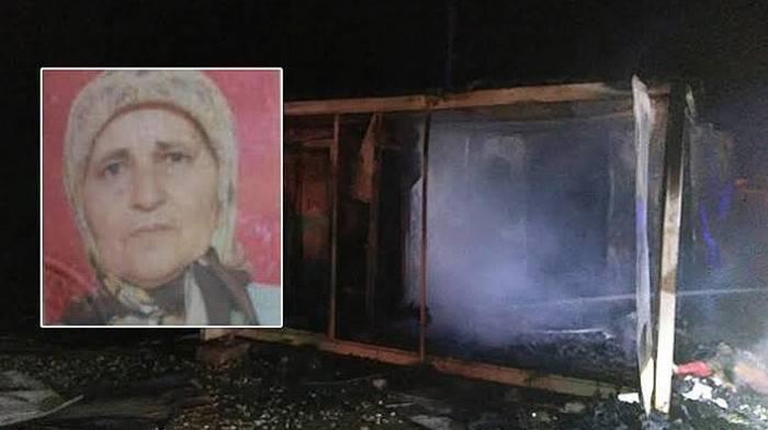 Konteyner Evde Çıkan Yangında Yaşlı Kadın Öldü