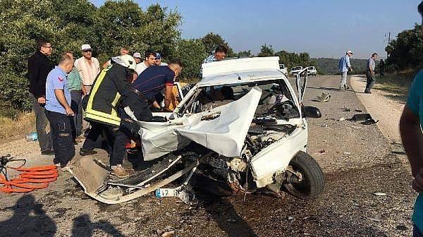 Çan'da İki Otomobil Çarpıştı: 2 Ölü, 2 Yaralı