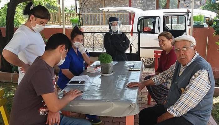 Bayramiç'te Koronavirüs Taraması Yapıldı