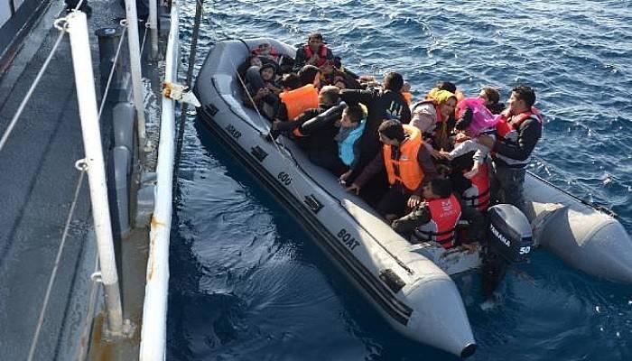 Lastik Bot İçinde 41'i Çocuk, 71 Kaçak Göçmen Yakalandı