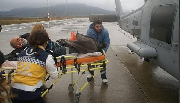 Deniz Kuvvetleri Komutanlığı Helikopteri Fenalaşan Vatandaş İçin Havalandı
