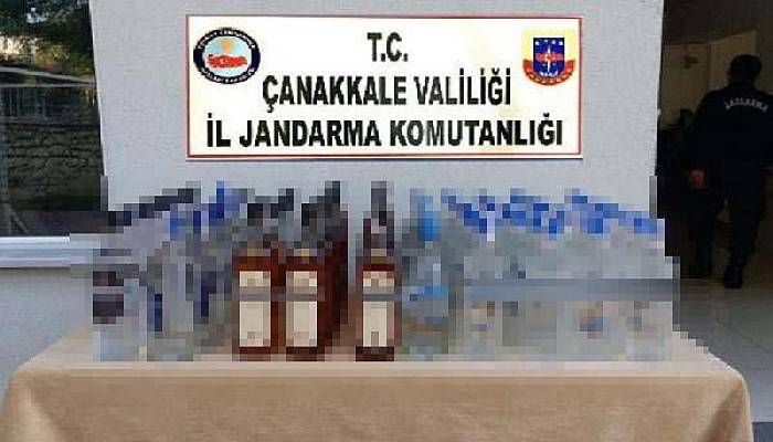 Çanakkale'de Kaçak İçki Operasyonu: 3 Gözaltı