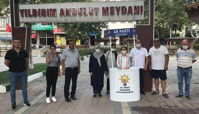 Bayramiç AK Parti Üye Çalışması Yaptı