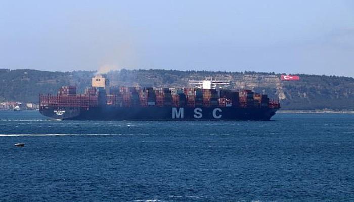 Çanakkale Boğazı, Dev Gemilerin Geçişi İçin 9 Saat Tek Yönlü Trafiğe Kapatıldı