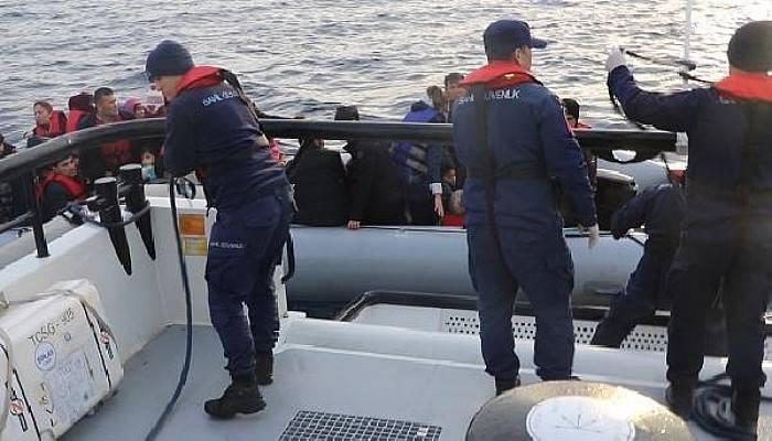 Lastik Botta 35'i Çocuk, 60 Kaçak Göçmen Yakalandı
