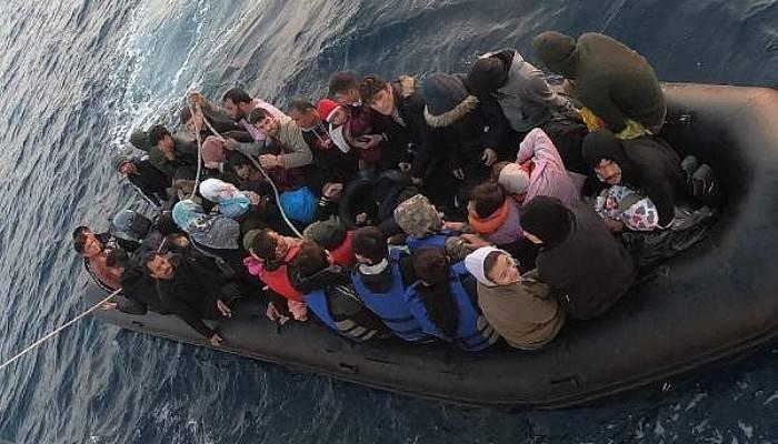Ayvacık'ta 46'sı Çocuk 83 Kaçak Göçmen Yakalandı