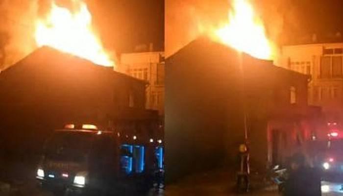 Biga'da Metruk Binada Yangın