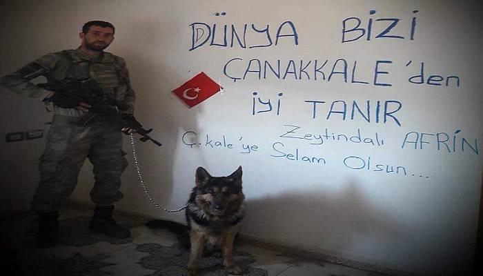Çanakkaleli Mehmetçik Afrin'den Selam Yolladı