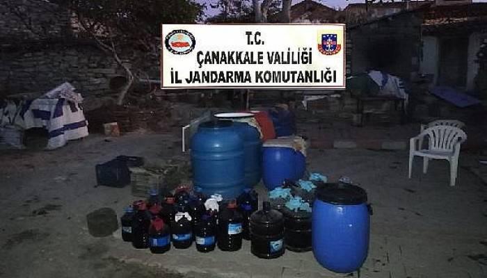 Çanakkale'de 7 Bin 540 Litre Sahte Şarap Ele Geçirildi