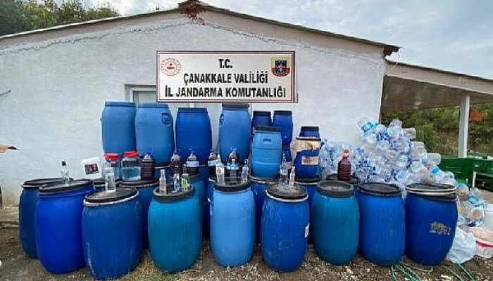 Bağ Evinde 3 Bin 230 Litre Kaçak Şarap Ele Geçirildi