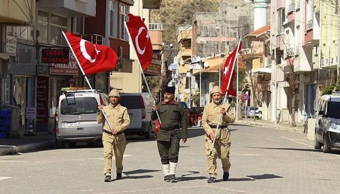 Şehitler İçin Çanakkale'ye Yürüyen Gazi Torunu, Eceabat'a Ulaştı