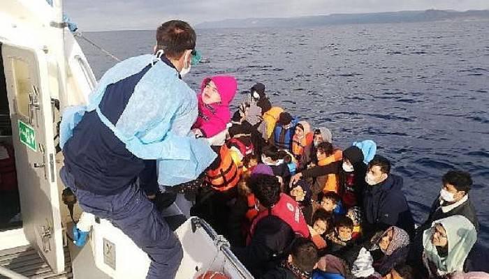 AyvacıkAçıklarında,2Lastik Bottaki110Kaçak Göçmen Kurtarıldı