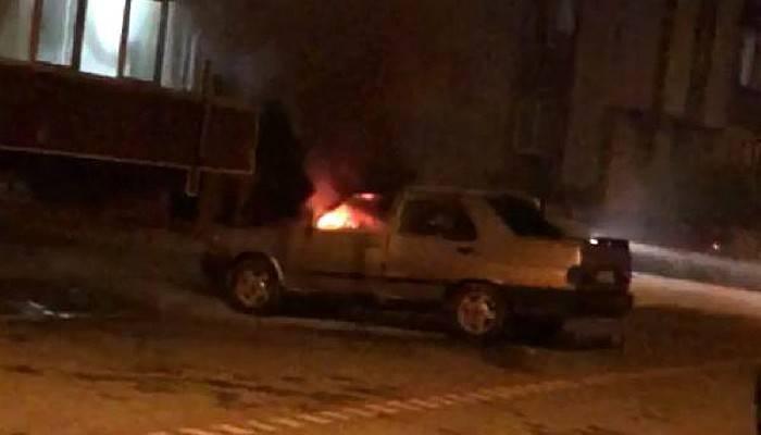 Park Halindeki Otomobilde Yangın