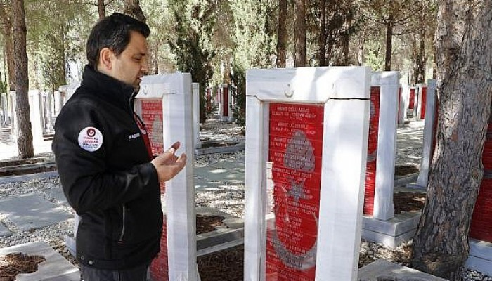 Çanakkale'de Şehit Düşen Gazze ve Kudüs'lü Şehitlerin Mezarlarına Ziyaret