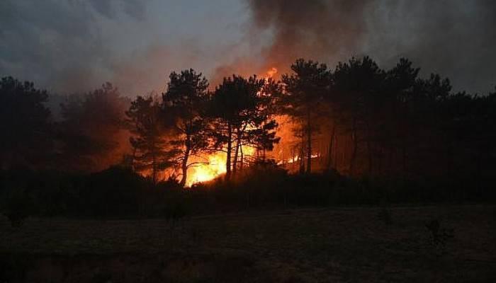 Yangına Müdahalede Beton Mikserleri de Kullanılıyor