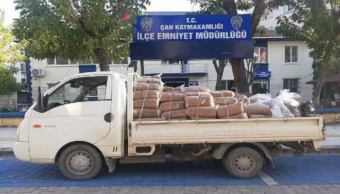 Çan'da Kaçak Tütün Operasyonu