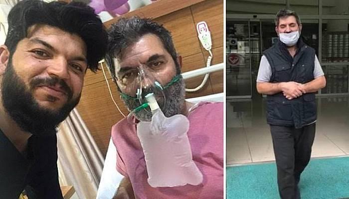 17 Gün Refakat Ettiği Babası Koronavirüsü Yendi