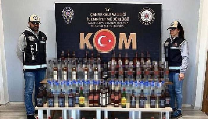 Çanakkale'de Kaçak ve Sahte İçki Operasyonu