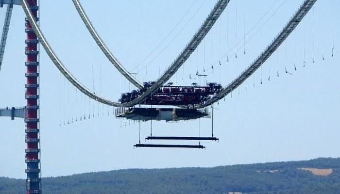 1915 Çanakkale Köprüsü'nde İlk Mega Tabliye Blok Montajı Yapıldı