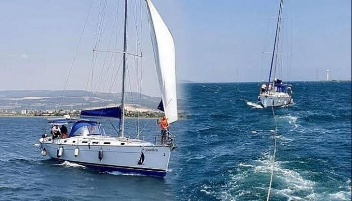 Çanakkale Boğazı'nda Sürüklenen Yelkenli Tekne Kurtarıldı