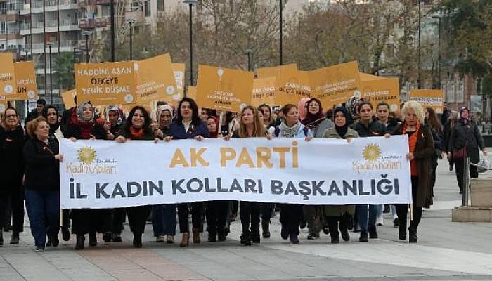 AK Partili Kadınlar, Şiddete Karşı Yürüdü