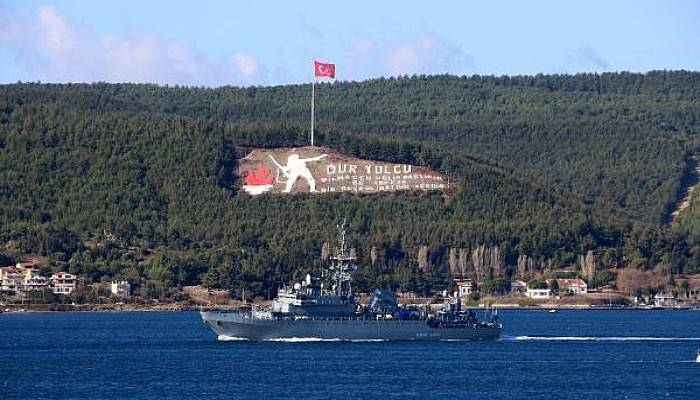 Rus Keşif Gemisi 'Ivan Khurs' Akdeniz'e İniyor