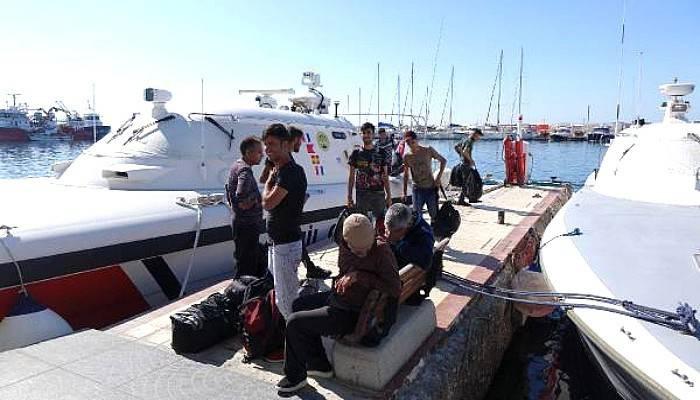 Ayvacık'ta 45 Kaçak Göçmen Yakalandı