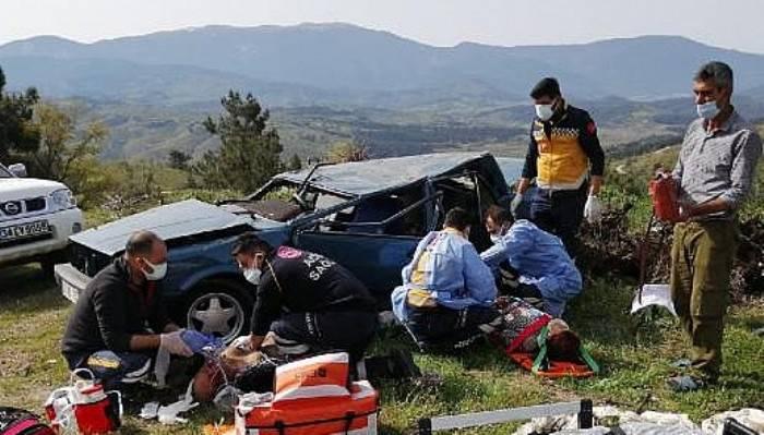 Otomobil Takla Attı; Sürücü Öldü, Eşi Ağır Yaralı