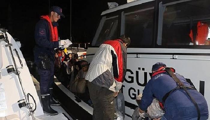 Lastik Bot İçinde 42'si Çocuk, 87 Kaçak Göçmen Yakalandı