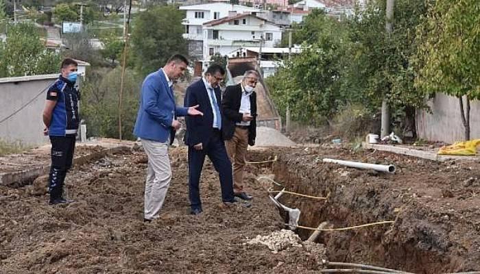 Çan Belediye Başkanı Öz, Altyapı Çalışmalarını Yerinde İnceledi