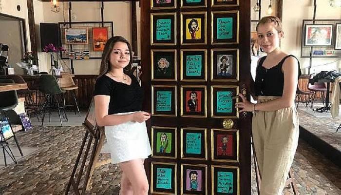 Liseli Kızlar, Resim Sergisi Açtı