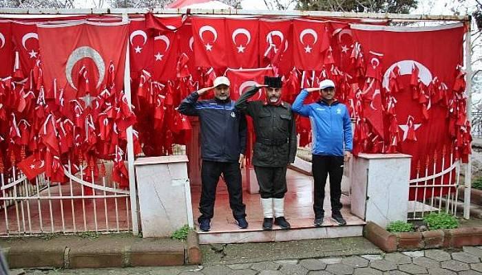 Şehitler İçin Çanakkale'ye Yürüyen Gazi Torunu, Gelibolu'yaUlaştı