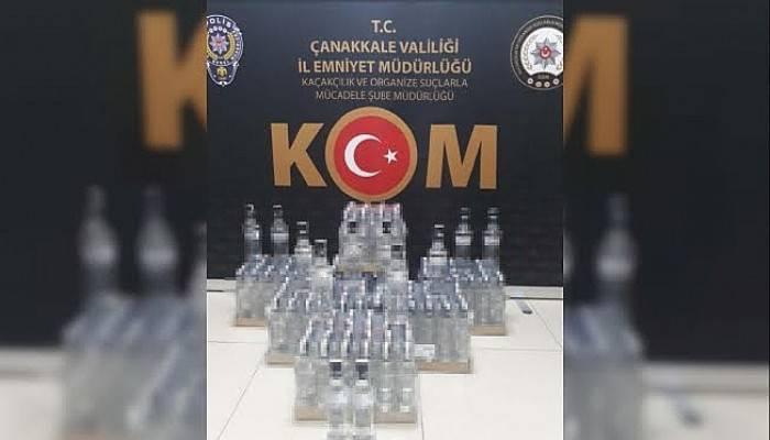 Çanakkale'de Kaçak İçki Operasyonu: 1 Gözaltı