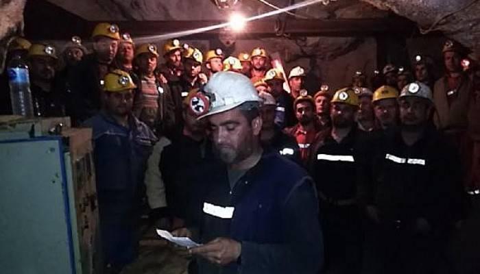 Yenice'de Maden İşçileri Kendilerini Ocağa Kapattı