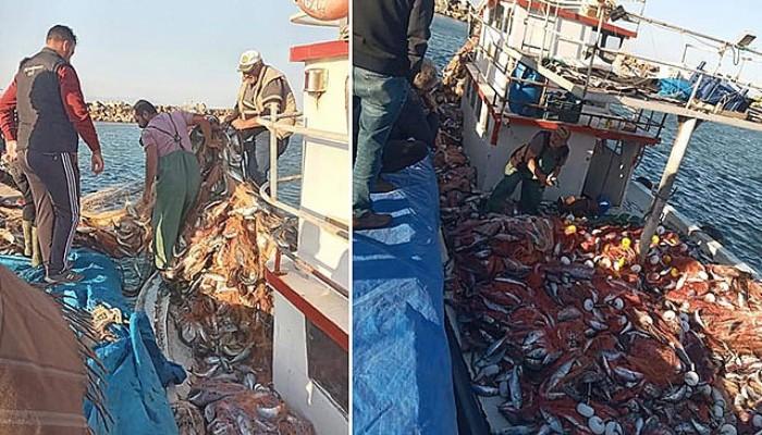 Çanakkaleli Balıkçı, 15 Bin Tane Lüfer Yakaladı
