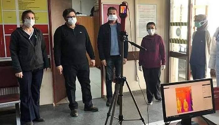 Gelibolu Devlet Hastanesi'nde Termal Kamerayla Kontrol Başladı