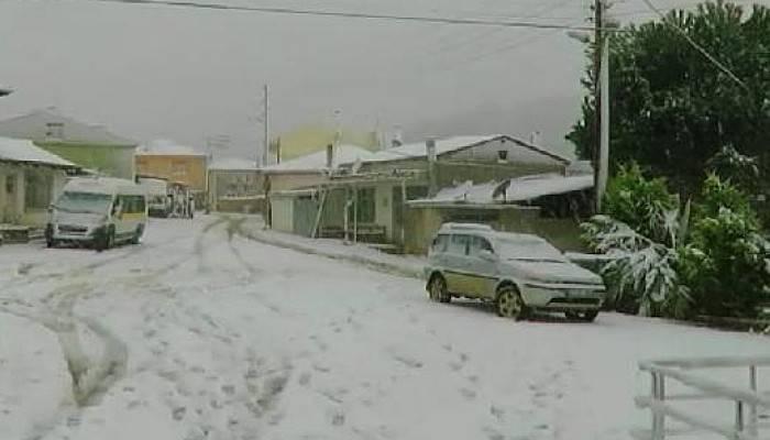 Çanakkale'nin Yükseklerinde Kar Yağışı
