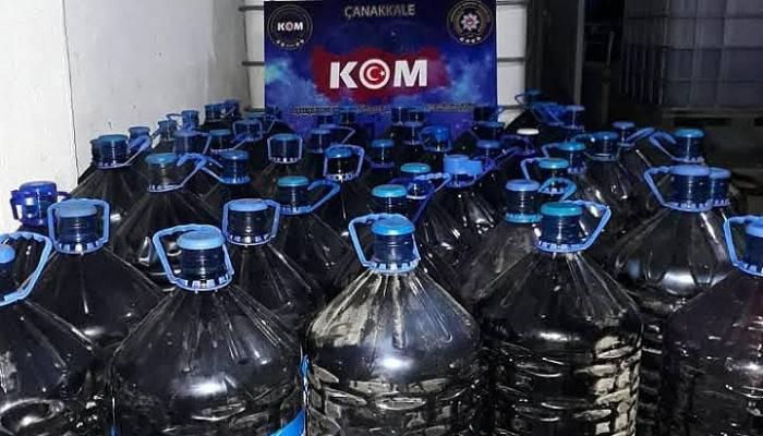 Çanakkale'de 4 Bin 100 Litre Sahte Şarap Ele Geçirildi