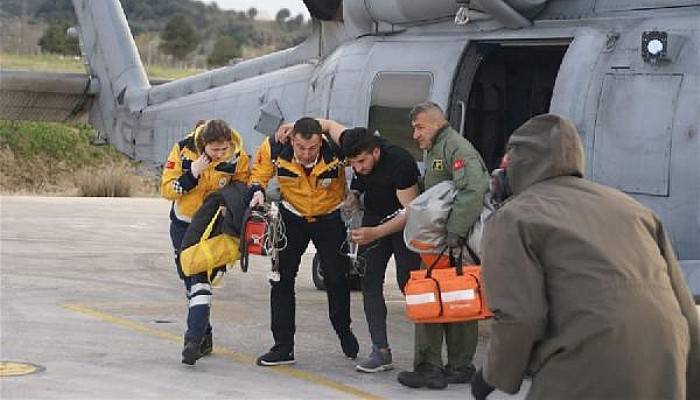 Deniz Kuvvetleri'ninHelikopteri, Emre İçin Havalandı