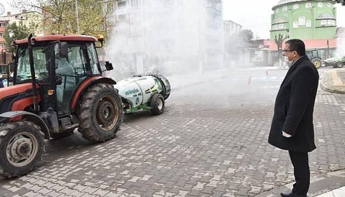 Çan'da Cadde ve Sokaklara 'Atomizer' Dezenfeksiyon