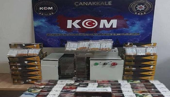 Çanakkale'de Kaçak Sigara Operasyonu