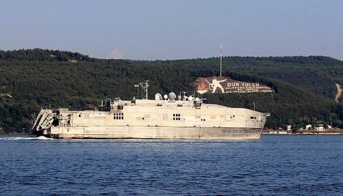 ABD Donanması'na Ait 'USNS Yuma', Çanakkale Boğazı'ndan Geçti