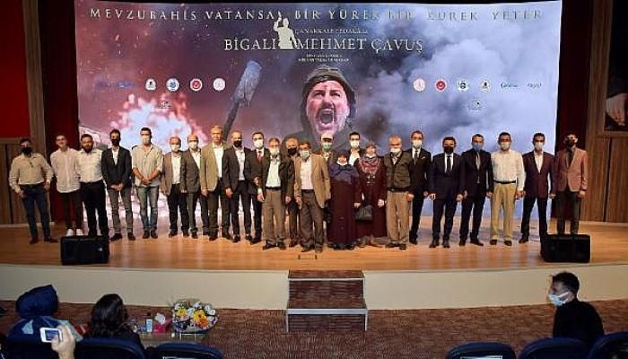 'Çanakkale Fedakarı Bigalı Mehmet Çavuş Belgeseli'nin Galası Biga'da Yapıldı