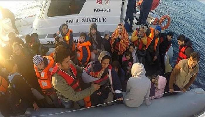 Ayvacık'ta 76'sı Çocuk, 147 Kaçak Göçmen Yakalandı