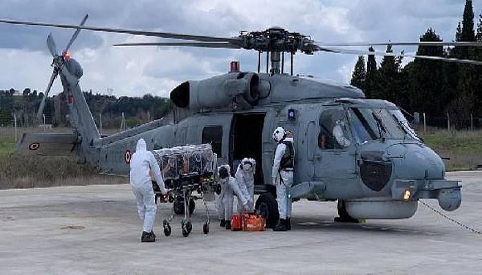 Kovid- 19 Hastası, Gökçeada'dan Çanakkale'ye Helikopterle Sevk Edildi